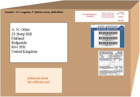 Addressed parcel