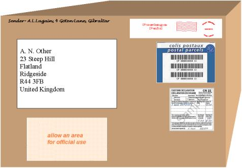 Addressed parcel